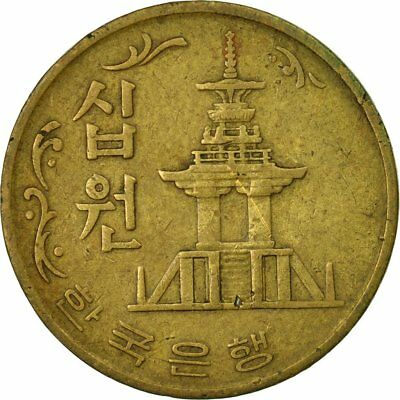 [#536361] Coin, KOREA-SOUTH, 10 Won, 1970, VF(30-35), Bronze, KM:6