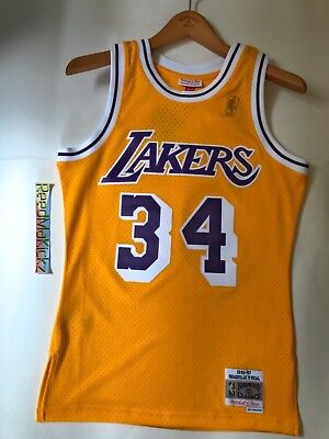 Shaquille O Neal LA Lakers Mitchell Ness 1996-97 HWC Swingman Jersey  RETAIL 130 863751398