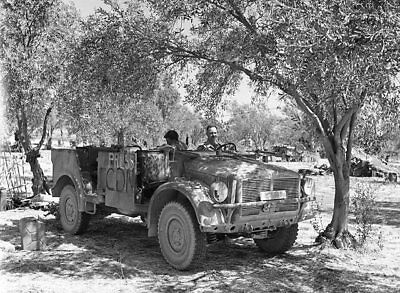 WW 2 - Original Photo Negatives -  Canadian Soldiers in Captured German Vehicle