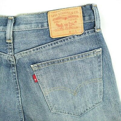 Levis 505 Red Tab Faded Blue Straight Fit Denim Jeans Men's Size 31 100% Cotton