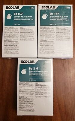 Ecolab Dip It XP 17583 Concentrated Coffee&Tea Destainer (Lot Of 3) 1.75 lb Each