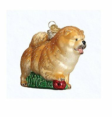 Old World Christmas Chow Dog Glass Blown Ornament