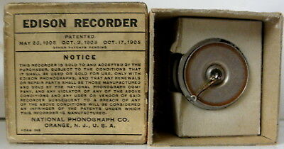 original c1905 Edison Recorder by the National Phonograph Co. in the box