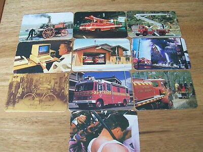 NSW FIRE BRIGADE .. NSWFB  ..  TRADING CARDS NO's  41 - 50