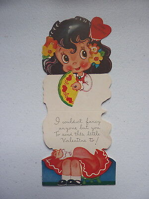 """Vintage A-MERI-CARD """"I Couldn't Fancy Anyone"""" Foldable Valentines Day Card"""