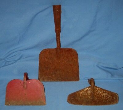 Lot of 3 Sizes VTG Garden Hoe Cultivator Heads Farm Tool Rustic Decor Metal!