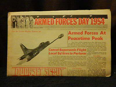 ARMED FORCES DAY QUONSET POINT SCOUT Newspaper NAS RI 15 May 1954 Atomic Power
