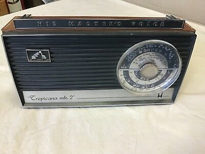 HMV TRANSISTOR RADIO Tropicana MK2 WITH mod BATTERY