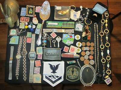 Junk Drawer Lot estate sale old coins old marbles jewelry sterling old marbles