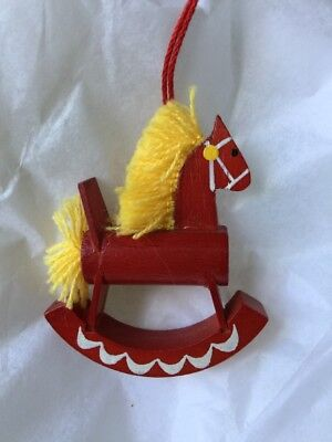 Steinbach Germany Rocking Hobby Horse Toy Wooden Wood Vintage 1970's Ornament