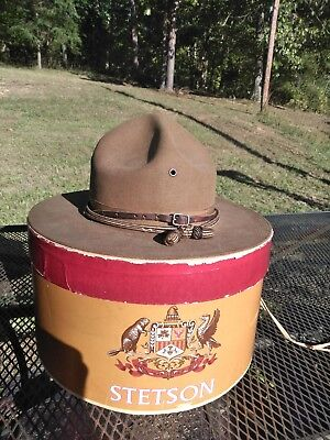 US WW1 M1911 Named Stetson Officer's Campaign Hat  with box.  !!SUPER NICE!!