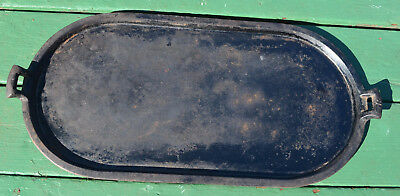 RARE VINTAGE  LARGE ANTIQUE CAST IRON GRIDDLE PAN No 9