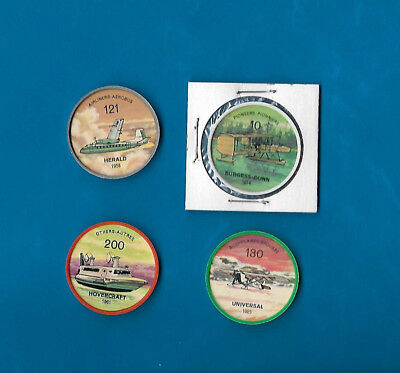 1960's Jello Airplane Coins Lot of 4  #s 10/121/130/200  NM-MT