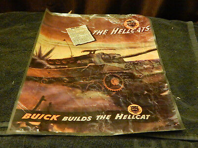 M18 HELLCAT TANK DESTROYER Sat Evening Post Full Page Advertisment WWII Laminate