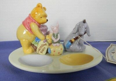 "~Mint~Disney Midwest of Cannon Falls Winnie the Pooh ""Porcelain Egg Holder"""