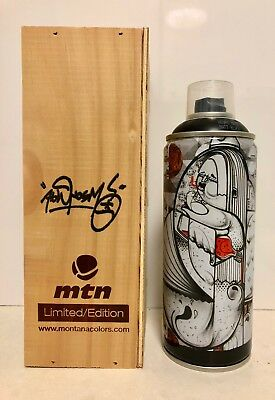 Limited Ed MTN Montana Colors *HOW and NOSM* Spray Paint Can in Wood Display Box