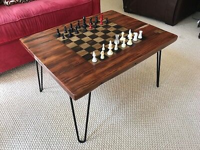 Chess Board Coffee Table--Handcrafted