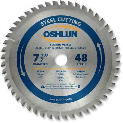 Oshlun SBF-075048 7-1/2-Inch 48 Tooth TCG Saw Blade with 20mm Arbor