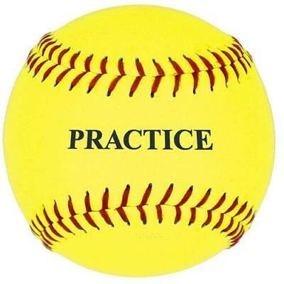 Practice Softball, Yellow, 11-inch, One Dozen