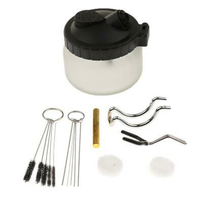 Airbrush Cleaning Pot Clean Paint Glass Jar with Holder Cleaning Tools Kit