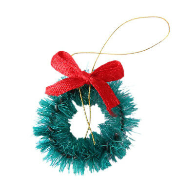 1/12 Dollhouse Miniature Hanging Christmas Wreath Doll House Wall Decoration