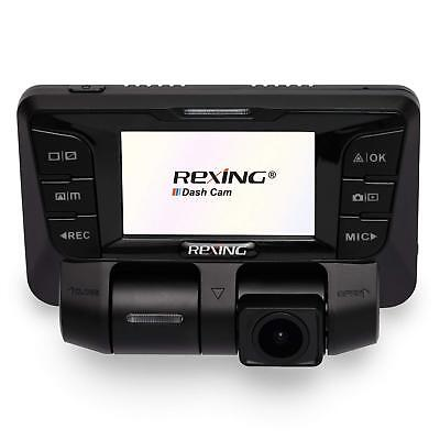 REXING V2 Uber Dash Cam Dual Channel Both 1080P Full HD 170 Degrees Wide Angle