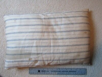 Antique small feather pillow for restoration or reuse 45x28cm