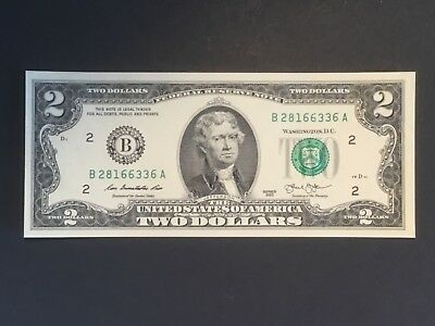 2013 US Two dollar banknote. Unc.