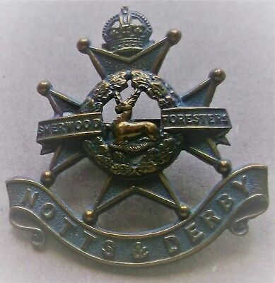 Officers Cap Badge In Bronze With Blades Notts & Derby Regiment