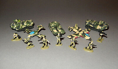 MICRO MACHINES MILITARY - FREEDOM FORCE ATTACK UNIT vehicles & figures lot