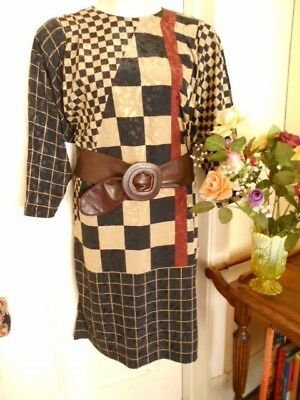VINTAGE 1980's  DRESS BY IT's PM BY LEON HASKIN WITH DOLMAN SLEEVES