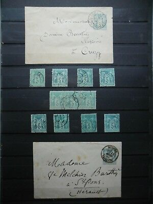 /france§§§ Lot De Timbres Obliteres Type Sage