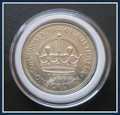 Australia  1937 Crowns(5 shillings) Sterling Silver(92.5%) Top Class