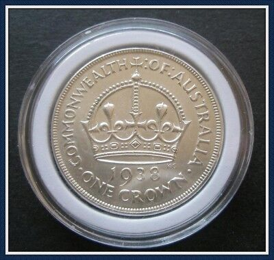 Australia  1938 Crowns(5 shillings) Sterling Silver(92.5%) Top Class