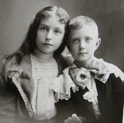 Cabinet Photo Of Exceptionally Beautiful Fashionable Girl & Boy Siblings Chicago