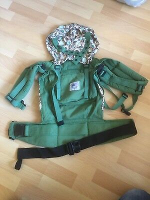 Ergo Orginal Baby Carrier With Box And Full Instruction Leaflet Green