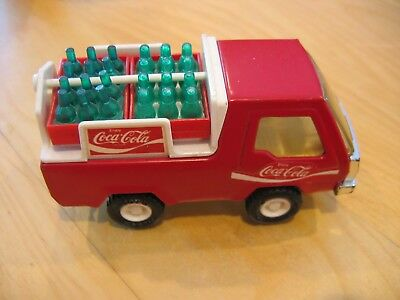 1982 BUDDY L Coca-Cola Delivery Truck w/ 4 Cases of Soda Bottles