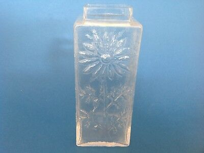Vintage Dartington Daisy Glass Vase by Frank Thrower 18.5 cm high