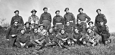 WW 2 - Original Photo Negatives -  R22R Infantry Section - Italy - Group Shot
