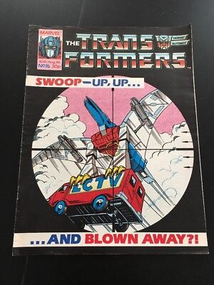 Marvel UK Transformers G1 Issue Number 76 August 1986