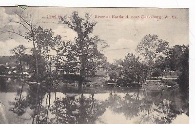 Hartland, Near Clarksburg, West Virginia, At the Bend of the River,Used, 1923 PM