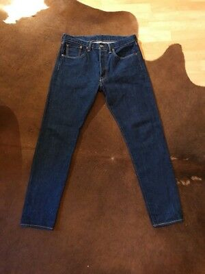 Levis-Jeans 501 33/34 (Customized & Tapered) Dunkelblau