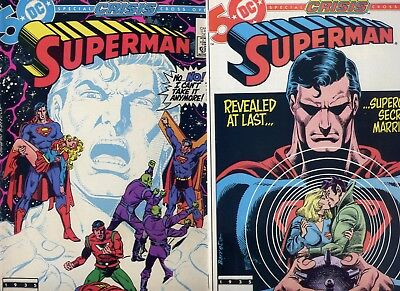 Superman #414-415 NM+ Two Part Post Crisis Supergirl Story