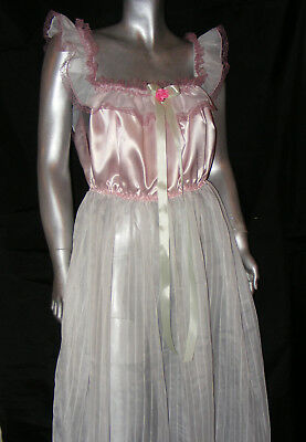 bodenlang rose Nachthemd Sissy Maid adult baby Negligee XXL
