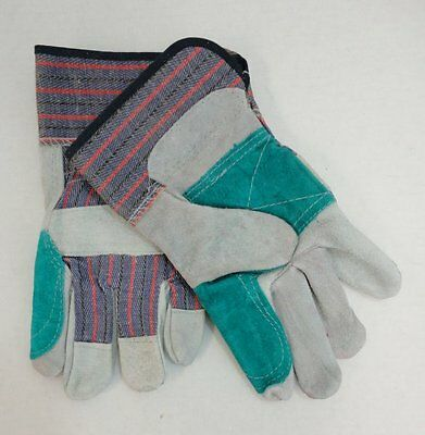 12 Pair Brand New Double Leather Palm Work Gloves, Wholesale, Free Shipping