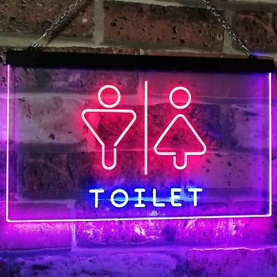 Men Women Toilet Restroom Washroom Bar Decor Dual Color Led Neon Sign st6-i2774