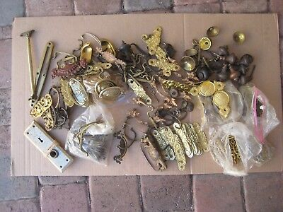 Antique Lot Of Drawer Pulls & Miscellaneous Architectural Salvage / Lot #11