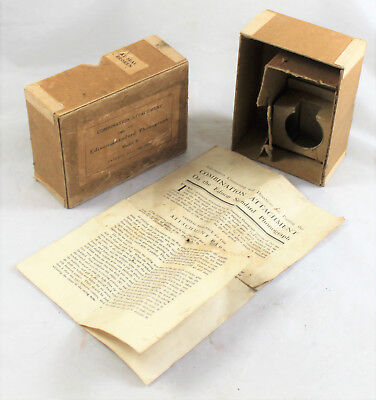 Edison Standard Combination Attachment Box and Instructions