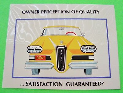 Oddball EDSEL POWER-POINT CLEAR MYLAR SHEET Quality Perception LEMON? Very Cool