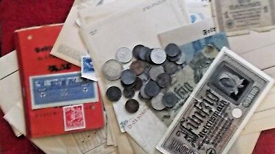 Ww2 Feldpost And Currency Lot!!!!!!!!!!!